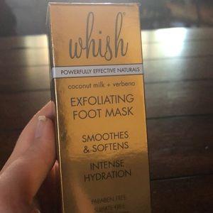 Brand New Whish Exfoliating Foot Mask